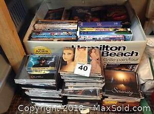 Collection Of CDs, DVDs, VHS Tapes A