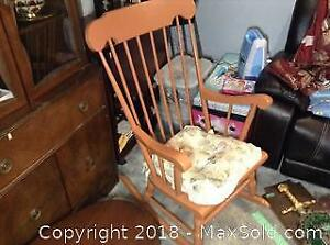 Painted Rocking Chair and Ottoman B