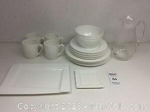DT Dish Set, Glass Pitcher And Serving Dishes