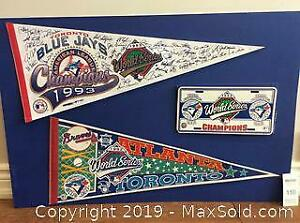 Blue Jays World Series Pennants And Plate