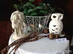 WIRE BASKET OUTDOOR ORNAMENTS DRAPERY TIES