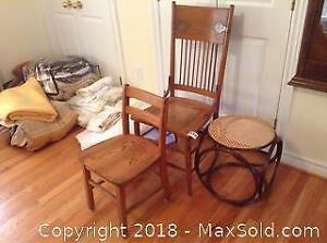 Chairs And Cane Stool