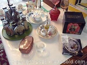 Crystal Glasses, Spice Rack and More B