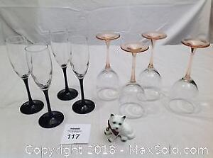 Wine Glasses, Champagne Flutes, China Terrier