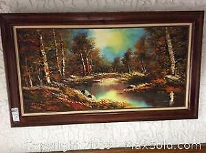 Framed Matted and Signed Oil Painting on Canvas A
