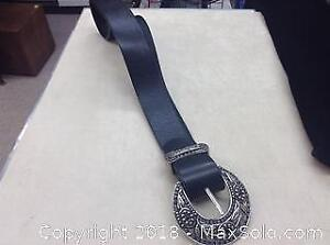 Italian Leather Belt Made In Canada With Buckle