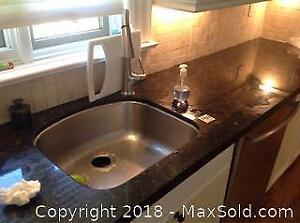 Kitchen Sink And Faucet And Disposal C