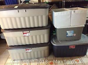 Assorted Storage Bins