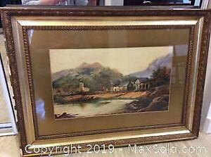 Antique Watercolour Unsigned