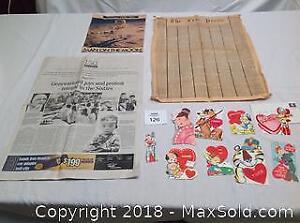 Vintage Newspapers, 1965 Valentine Cards