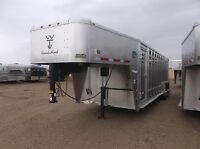 Wilson Ranch Hand 24' GN Stock Trailer with Front Roller Gate