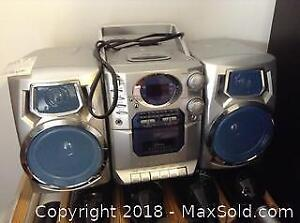 Compact Disc and Cassette Player A