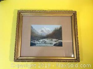 ORIGINAL oil painting by listed artist signed McEvoy. NOT A PRINT.