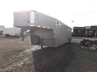 Used Merritt 28' Gooseneck Stock Trailer