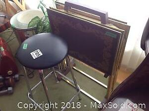 Stool And Tv Trays A