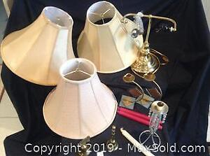 Lamp Shades, 2 Brass Bell, Other Items
