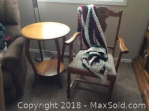 Occasional Table And Chair A