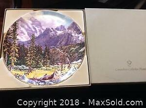 Limited Edition Plate Majestic Rocks With Certificate A