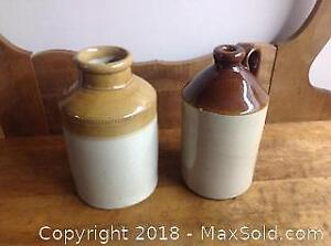 Antique Crock and Jug
