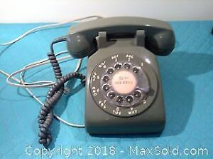 Green Northern Electric Rotary Dial Telephone A
