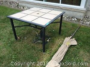 Patio Table With Umbrella