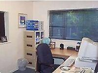 This centre offers serviced offices for 1 to 4 people.