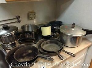 Cast Iron Pans And Pressure Cooker B