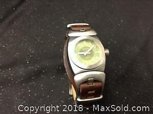Diesel Wrist Watch Leather Band Needs Battery