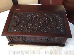 Black Forest Hand Carved Bible Box