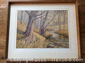 Large Watercolour Signed S.J. Versteeg