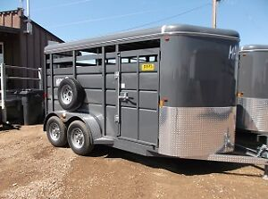 New Maverick 14' Bumper Pull Livestock Trailer- Blowing Out