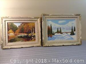 2 Framed Oil Paintings O Packman A