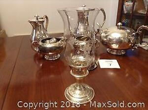 Silver And Silver Plate Lot Incl. Tea Set
