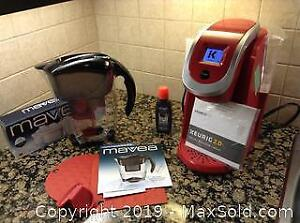 Keurig Coffee Maker and Water Pitcher. A