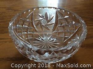 Cut Pinwheel Crystal Bowl