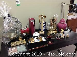 Clocks, Golf Trophies, Ginger Jar A