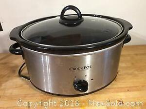 Crock Pot 4 Quart Stainless Steel Oval Slow Cooker