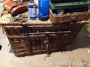 Large Wicker Chest A