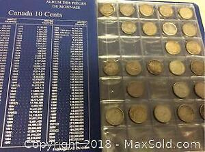 Canada Silver Dime Collection 1940-67 Lot Of 25
