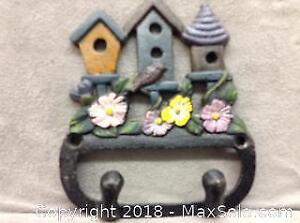 Wrought Iron 2 Hook For Wall