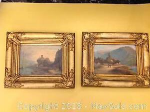 Pair of early 19th century oil paintings on canvas.