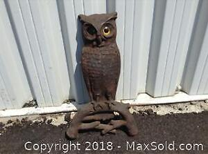 Cast Iron Owl Heavy Approx 15.5 Inches