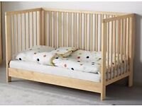 Lightly used Ikea cot bed and mattress