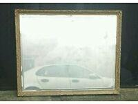 Large bevelled edge mirror