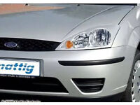 Ford focus head lamp light frames covers trim silver & black sport car styling