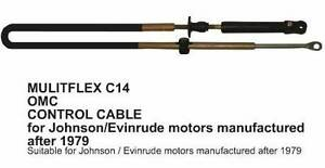 Evinrude Johnson Outboard Control Cables to Suit Models 1979 & up Pooraka Salisbury Area Preview