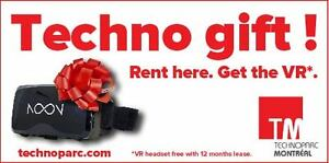 Techno-Gift! Rent here and get the VR !