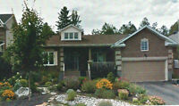 Bungalow with walk out basement in Stittsville.