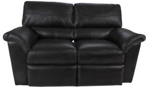 WANTED - Lazboy Reese black leather love seat