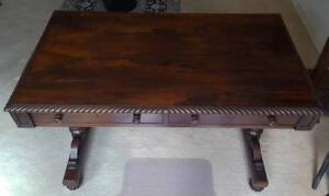 A Fine William IV Rosewood Library Table - Partners Desk Crows Nest North Sydney Area Preview